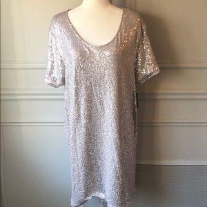 Grey Silver Sequin Dress